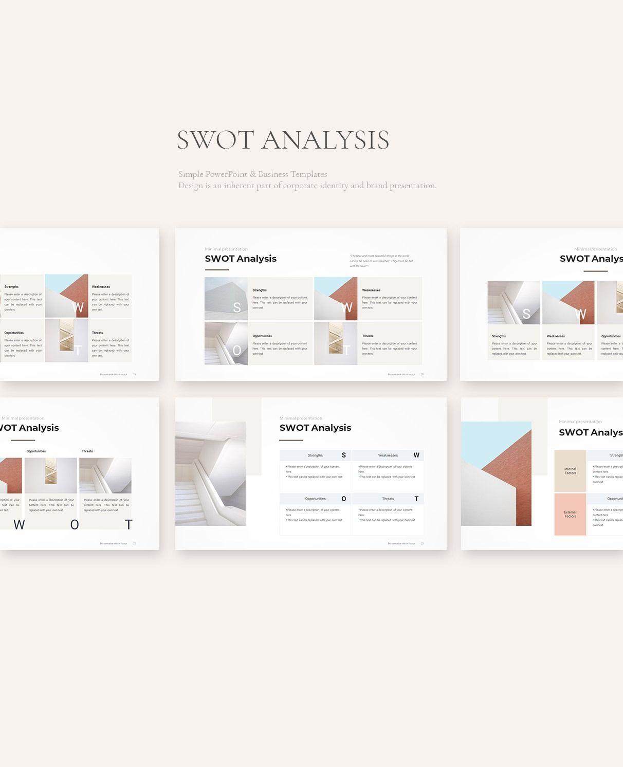 SWOT Analysis PowerPoint Template SWOT Analysis Ideas