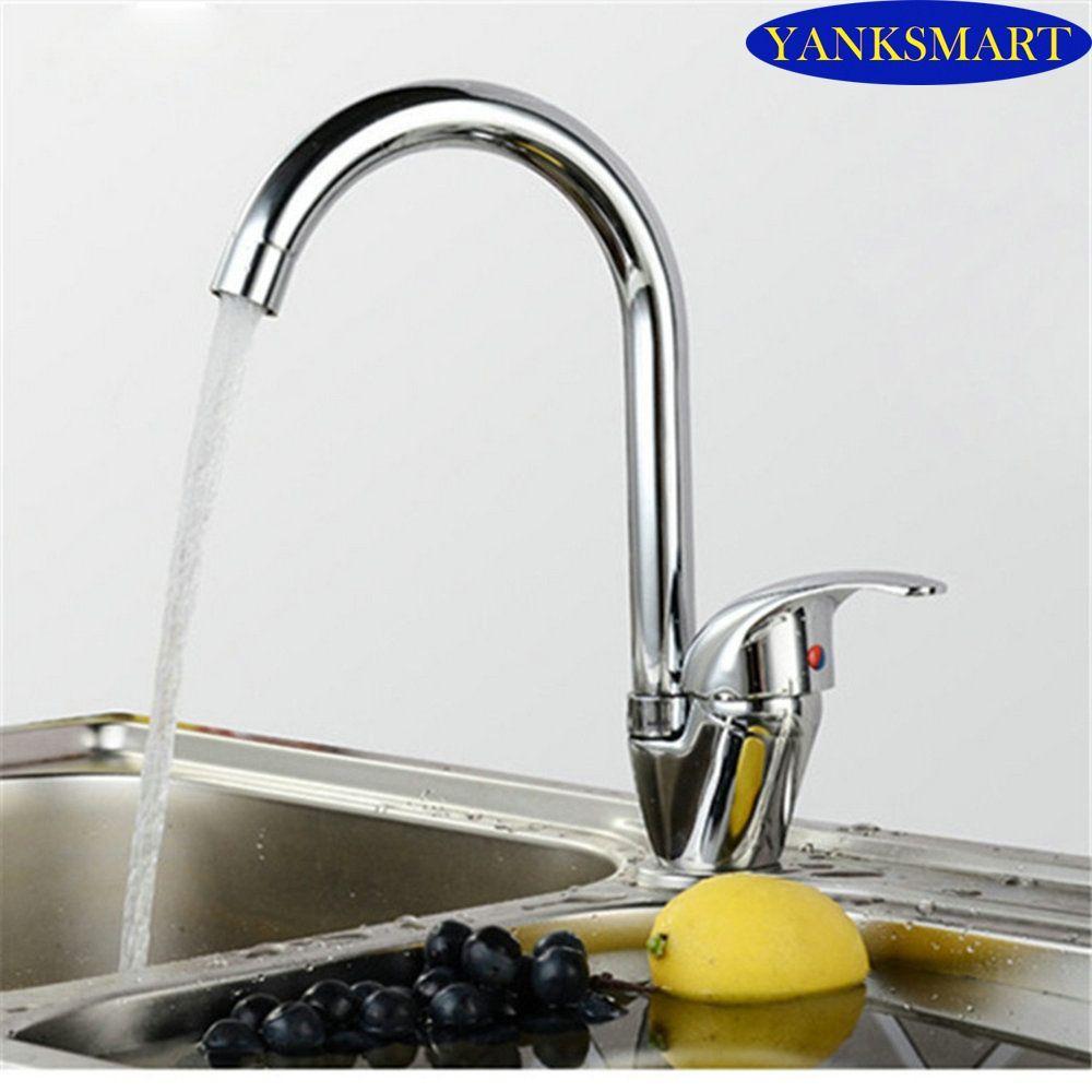 EUB  chrome Kitchen deck mounted Zinc Alloy swivel  faucet basin sink mixer taps
