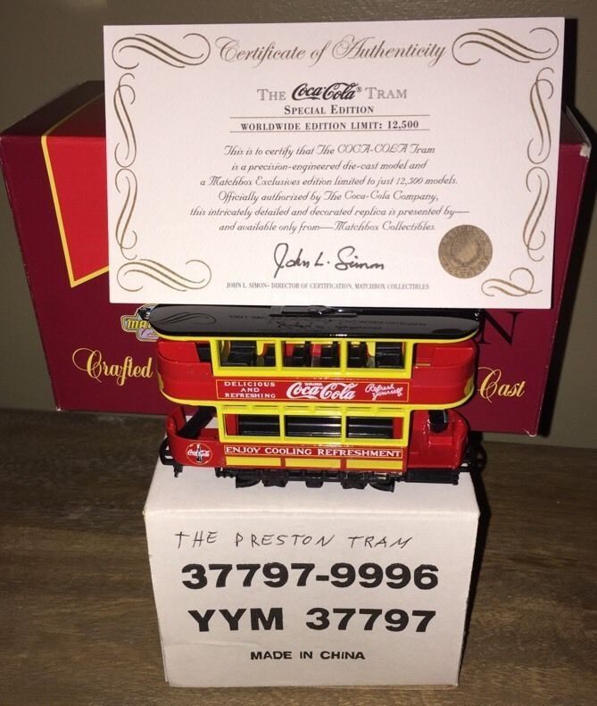Matchbox Collectible Limited Edition Collectible Coca Cola Tram 1 Of 12,500 NIB #DinkyModelsofYesteryear