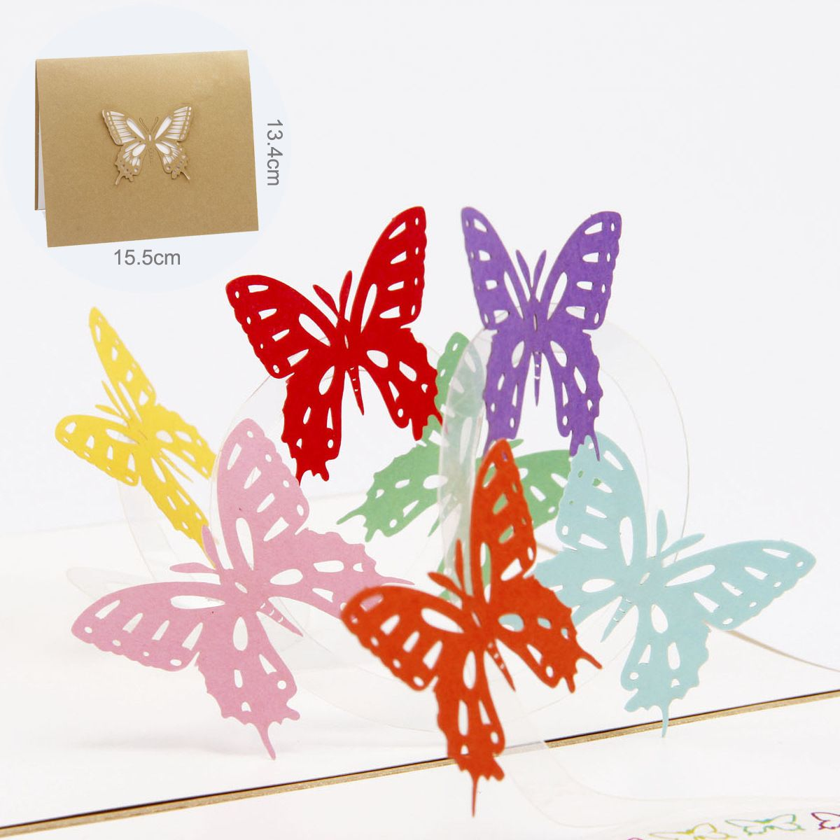 1 PC 3D Greeting Card Color Butterfly Birthday Cards Free Shipping ...