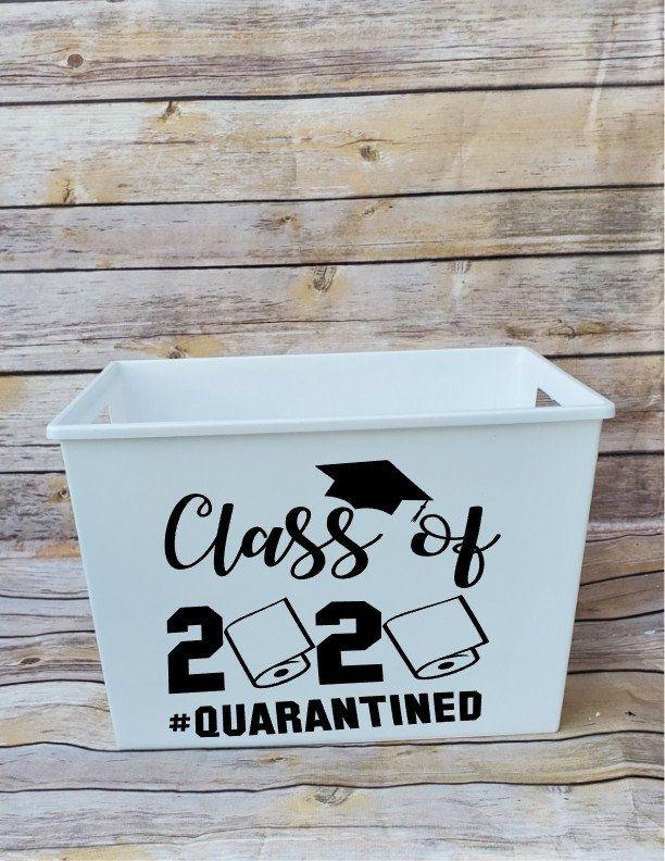 Graduation Gift Basket, Quarantine Grad, Graduation Gift, Class of 2020, Personalized Tubs, Personalized Baskets