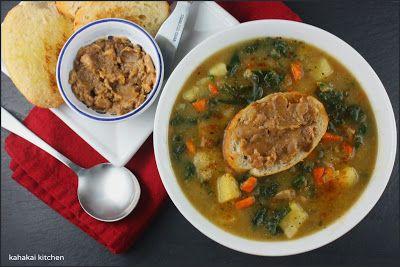 Potato, Leek, and Kale Soup with Smoky Paprika and Roasted Garlic