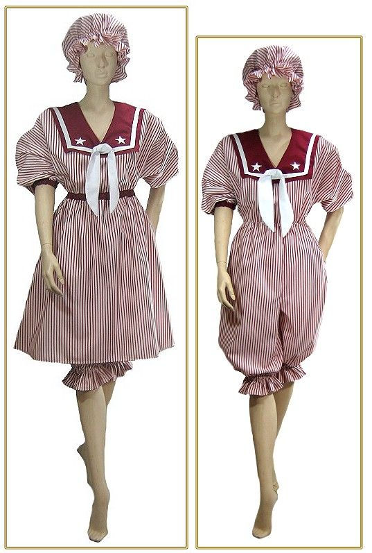 f165b80653a9 My style swimsuit Victorian Clothing candy-red-stripe-victorian-swimsuit  Remembering when I didn t mind getting into a swimsuit and now I would like  the one ...