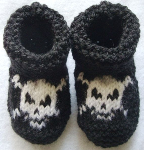 Baby Pirate Hand Knitted Booties 12 18 Months Many Colors