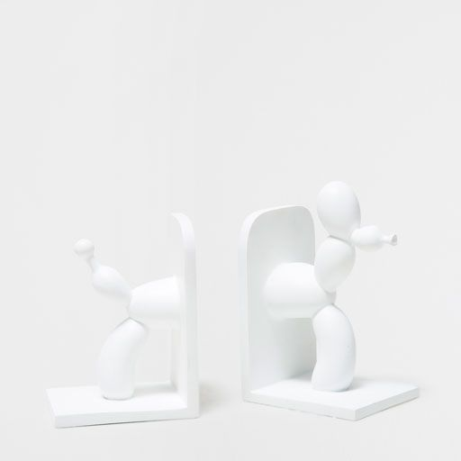 WHITE DOG BOOKEND