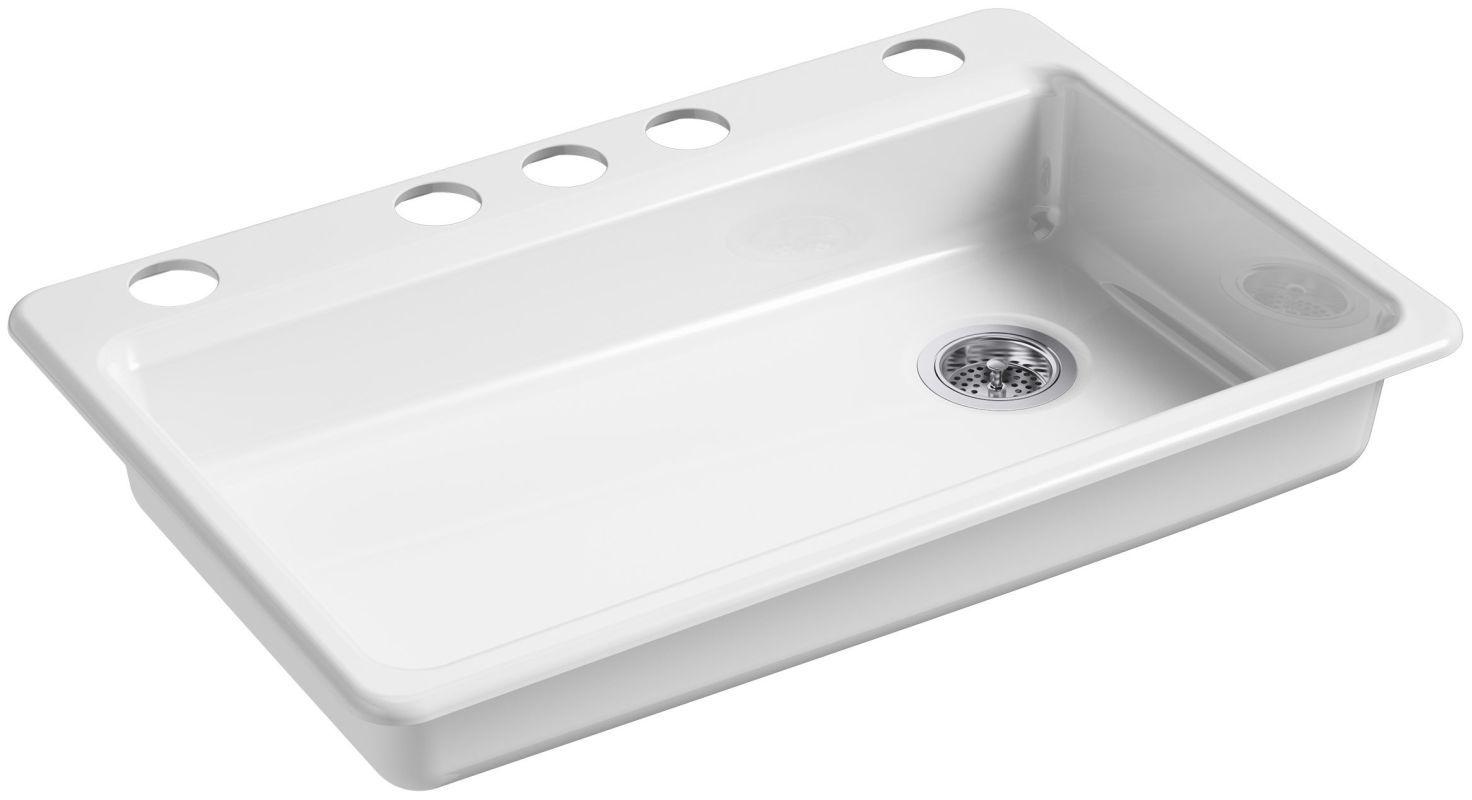 Kohler K 8689 5u Products Cast Iron Kitchen Sinks Single Bowl
