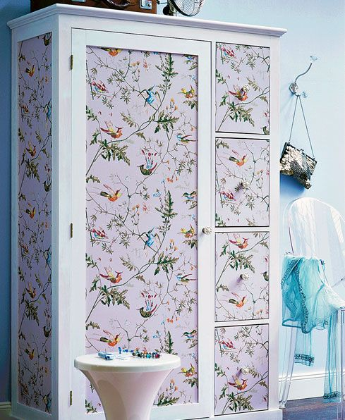 Revamp A Wardrobe Wallpaper Patterns Furniture Painted