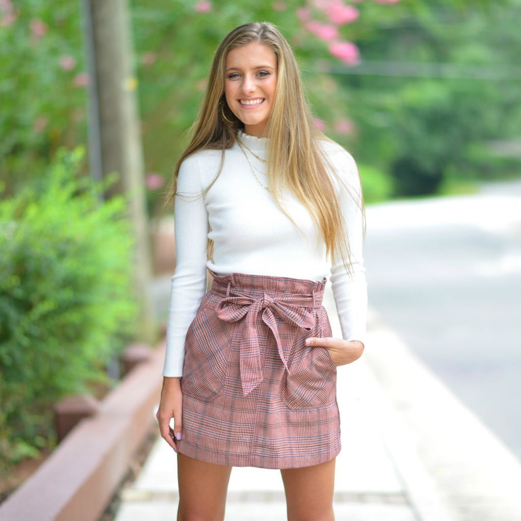 6bf848d4ca22 Fall Plaid Paper Bag Brick Skirt from Cousin Couture. | Fall and ...