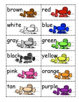 Match The Color Preschool Activities Color Math Activities