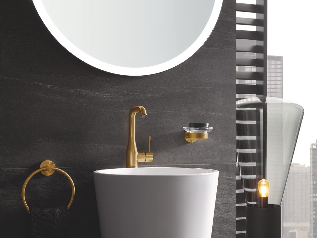 Grohe Essence Auffallend Unafdringlich In 2020 Runde Badezimmerspiegel Armaturen Bad Filigranes Design