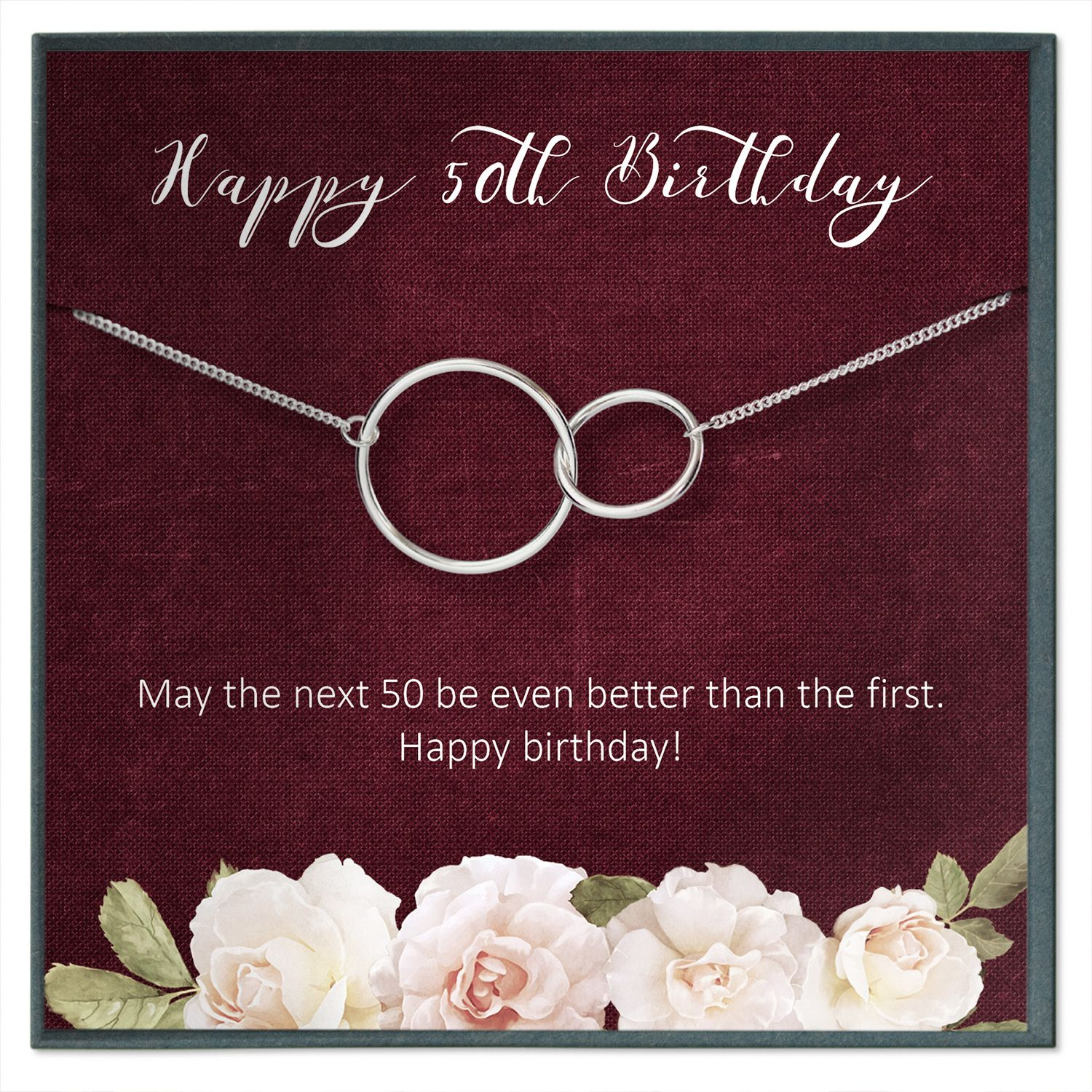 50th birthday gift for women fifty goddaughter gifts