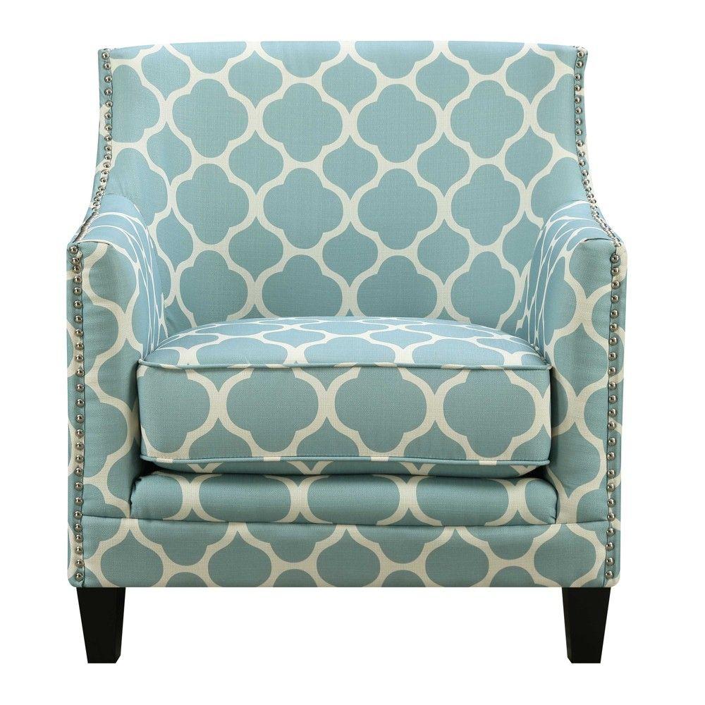 Best Deena Accent Chair Aqua Blue Picket House Furnishings 400 x 300