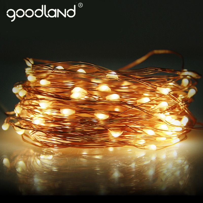 Construction Light String Unique Goodland Copper Wire Led String Light Wedding Decoration Outdoor