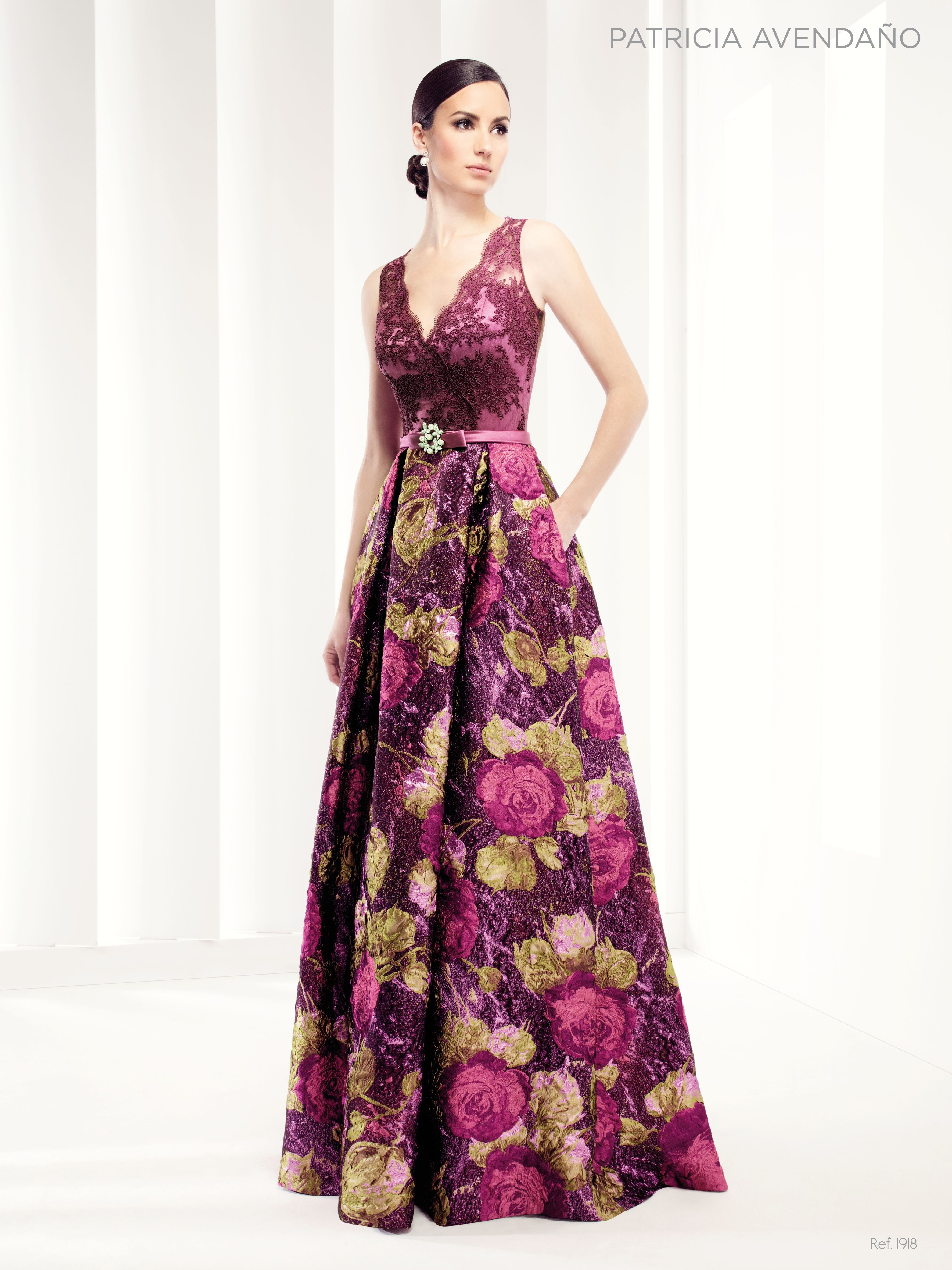 1918 - Vestido de Fiesta - Patricia Avendaño | Moda | Pinterest ...