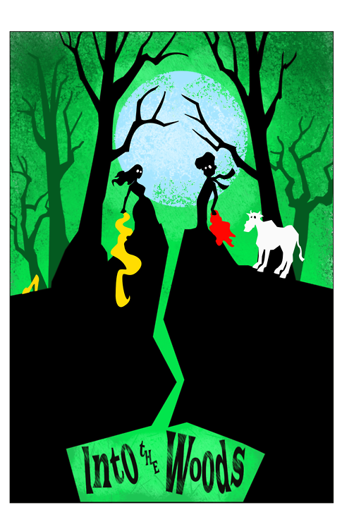 Into The Woods Poster Art Into The Woods Musical Wood Alternative Movie Posters