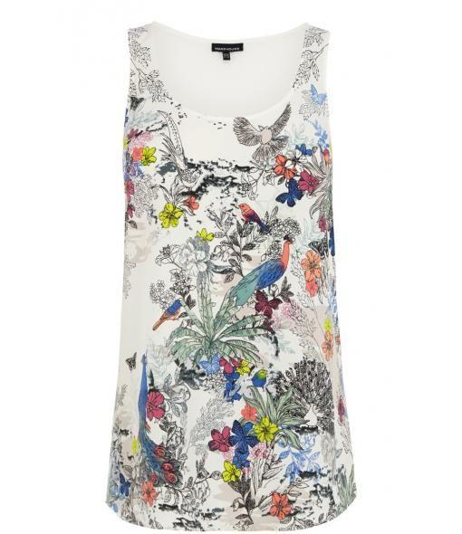 Warehouse Bird print vest