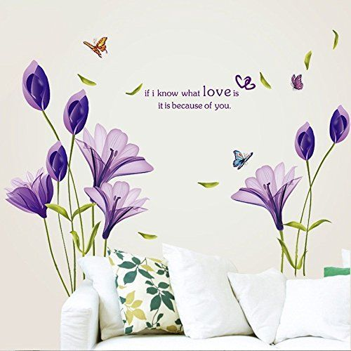 Best Livegallery Beautiful Lovely Lily Flowers Wall Decals 400 x 300