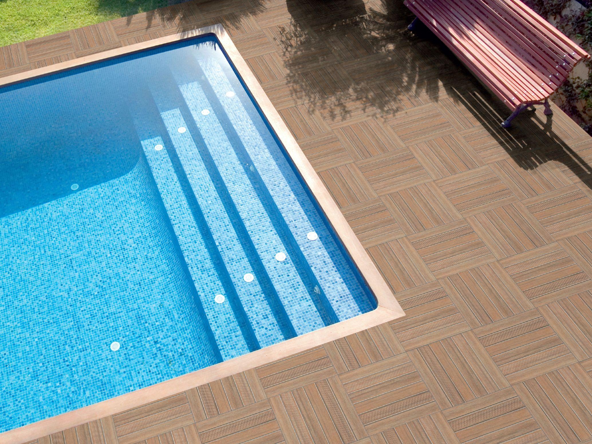 Porcelain stoneware outdoor floor tiles NEW TEK - POOL by REALONDA ...