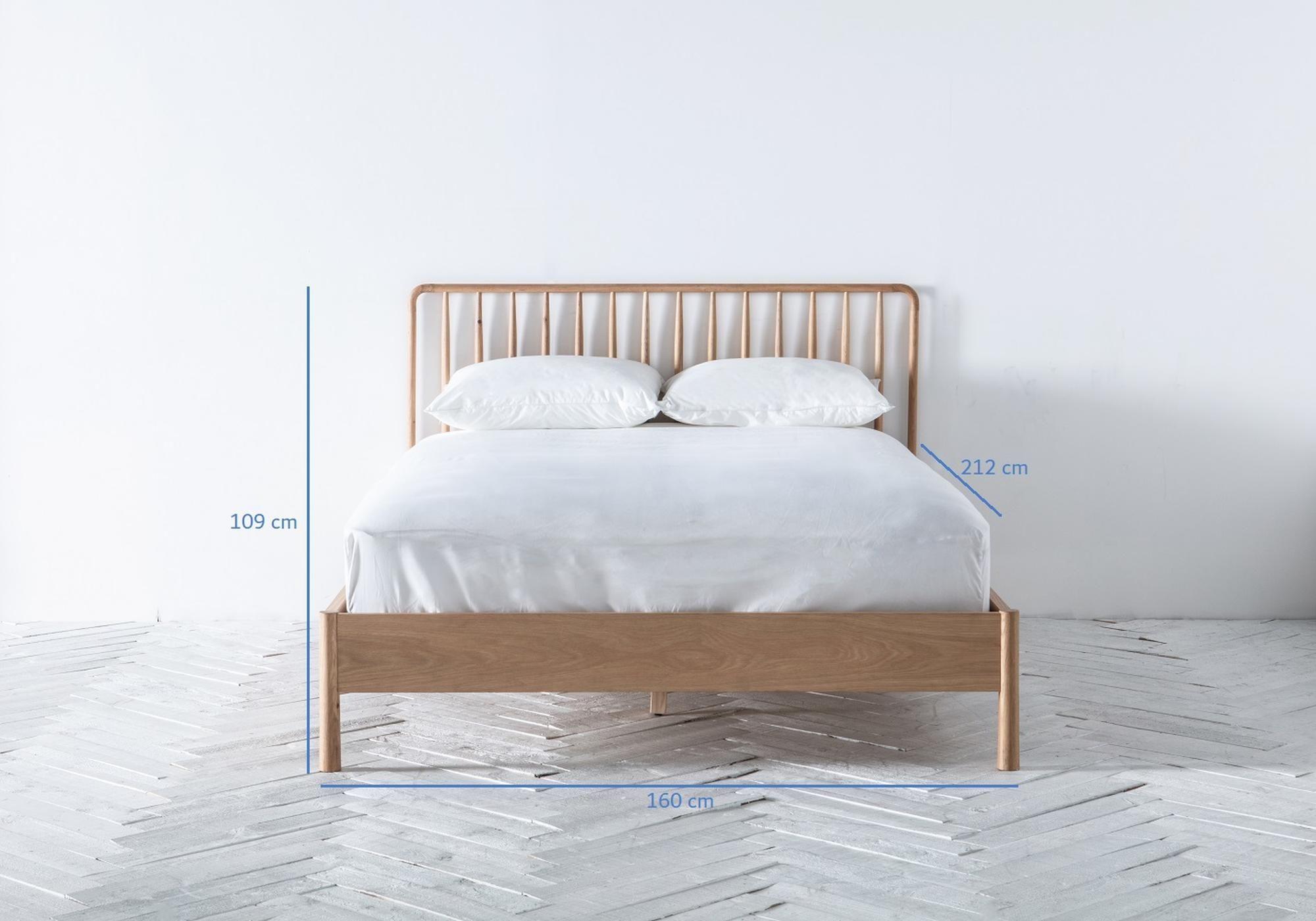 Rebecca 5' Oak King Bed Frame in 2020 King bed frame