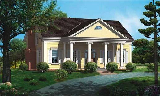 Historic Home Plan 3 Bedrms 2 5 Baths 2291 Sq Ft 137 1187 Greek Revival Home Greek Revival Architecture Greek Revival