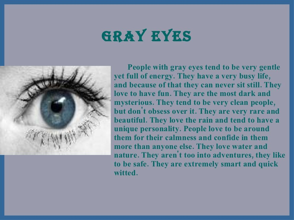 What does the color of the eyes mean