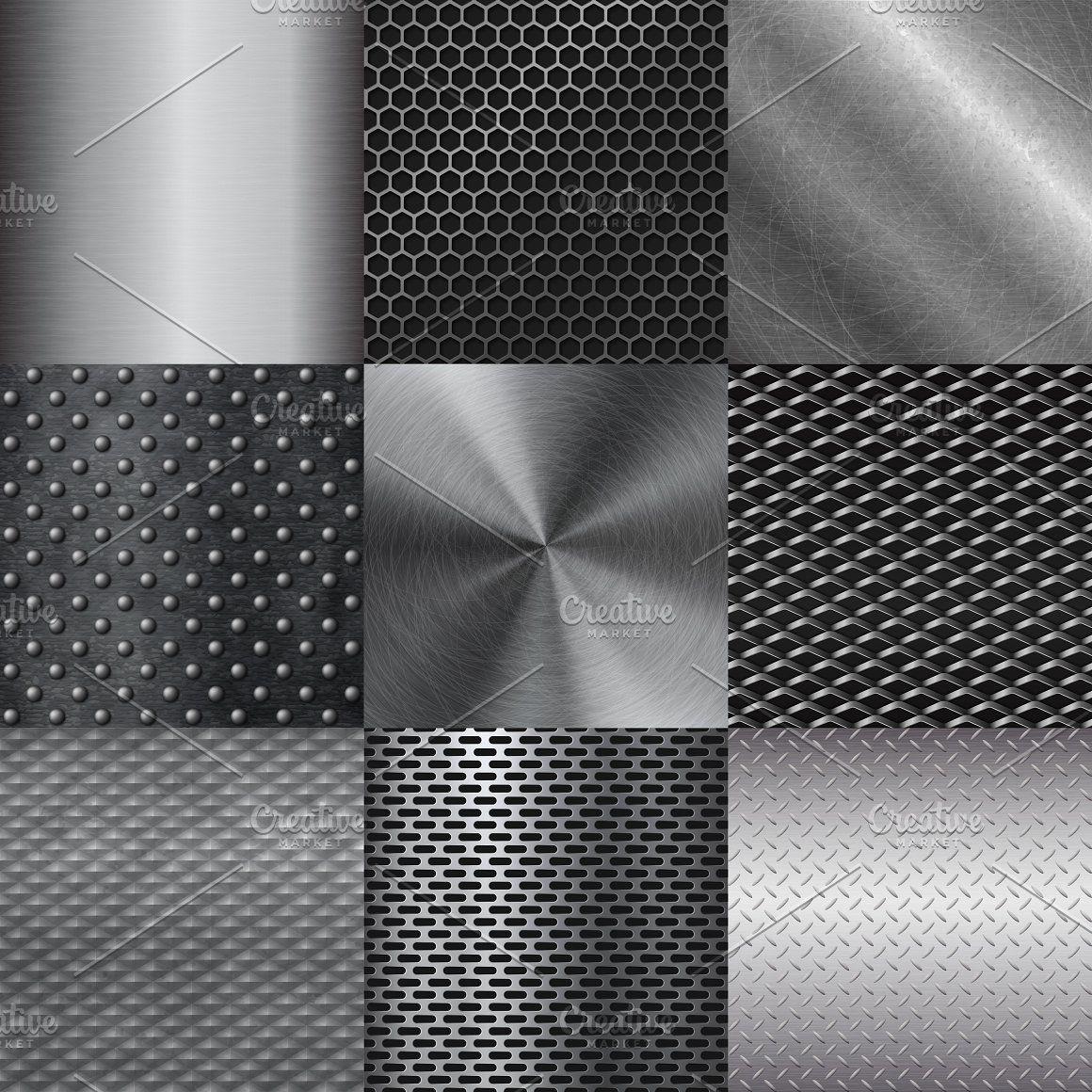 Metall Texture Pattern Vector Tekstury