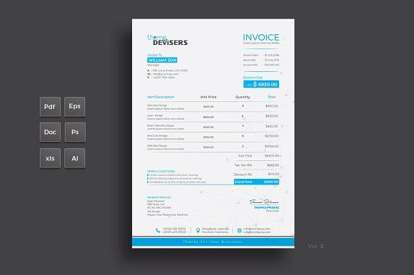 Invoice Excel Stationery templates and Template