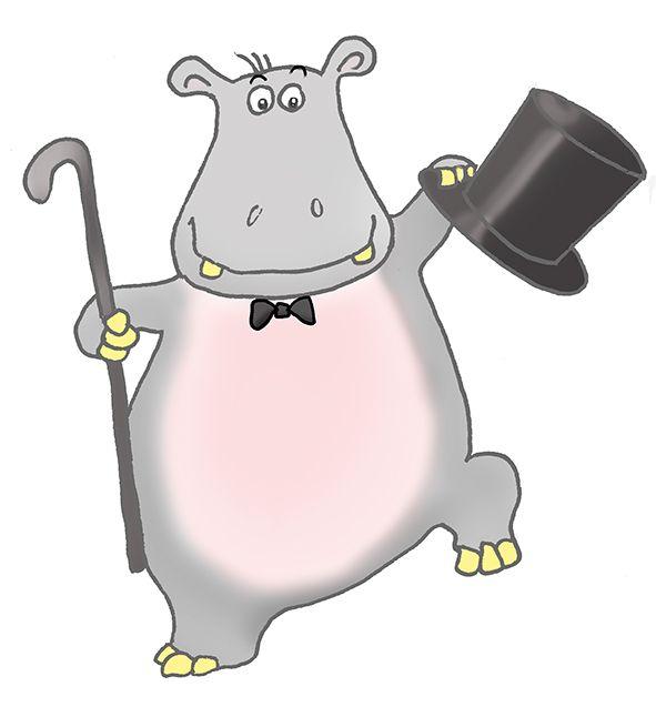 Dancing Hippo Clipart - Clipart Kid | Hippo, Animal mural ...