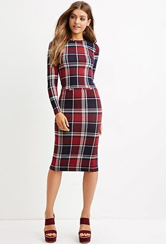 f3c1e953ba Tartan Plaid Pencil Skirt | Forever 21 - 2000183071 | Dresses ...