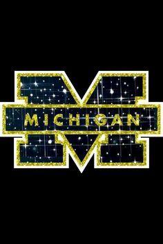 Image Result For Glitter Michigan Wolverines Background Michigan Go Blue Michigan Wolverines Football Michigan Football