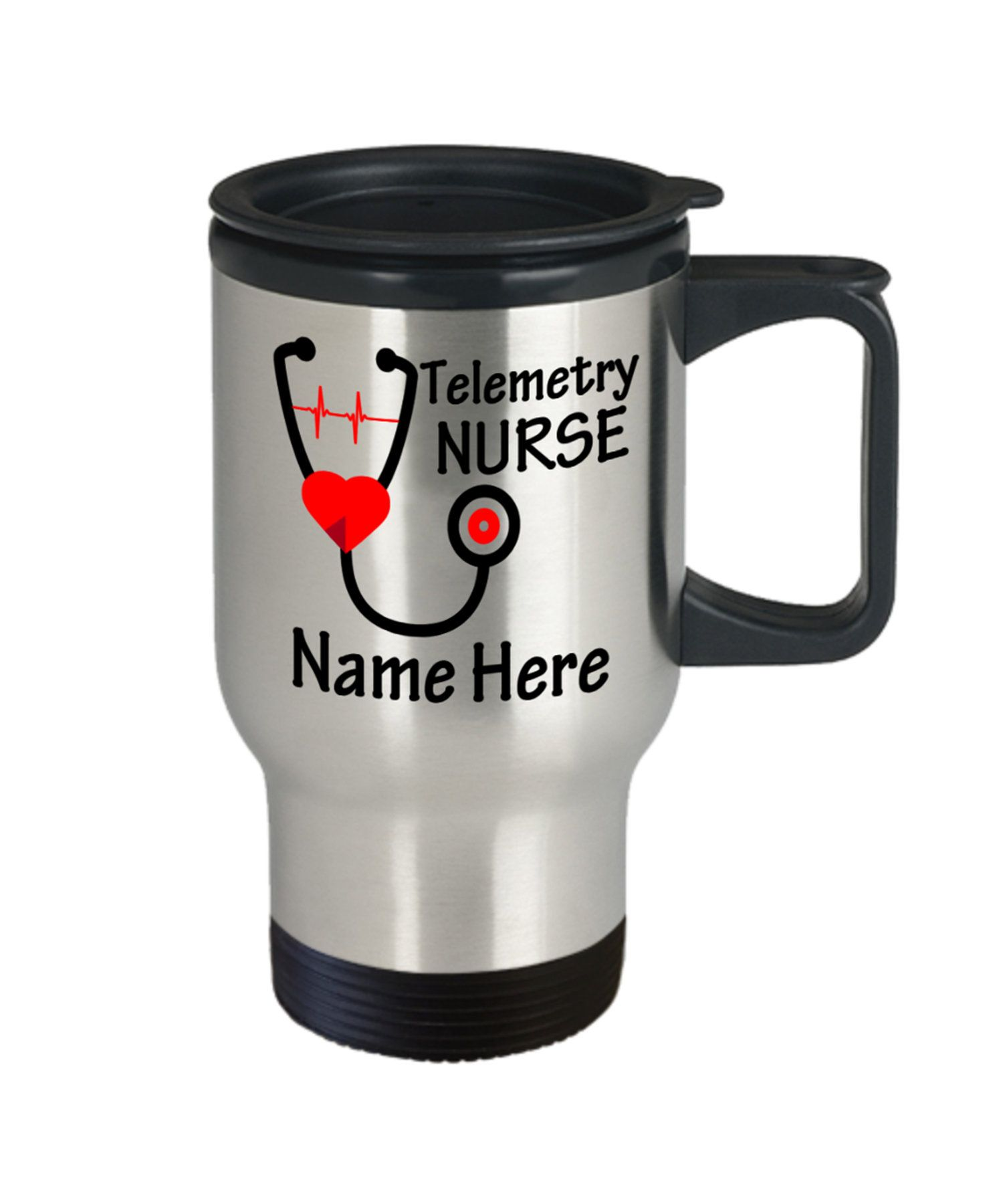 Telemetry Nurse Travel Mug Personalized Custom Name Birthday Christmas Gift Idea For Men Women Dad Mom Coworker Boss Coffee Tea Cup 14oz  #bigbrothergifts #bossgifts #boyfriendgifts #coworkergifts #dadgifts #giftsforcoworkers #giftsformom #girlfriendgifts #husbandgifts #nursegifts #officegifts #sistergifts #wifegifts:separator: #bosscoffee