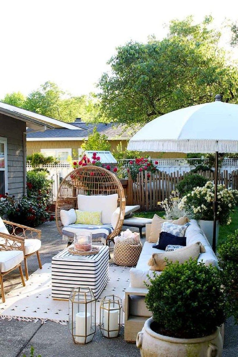 Beautiful Backyard Decoration Ideas With Accessories That Any One Will Love Roundecor Outdoor Patio Decor Backyard Patio Patio Design