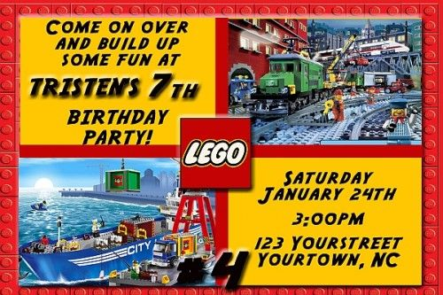 boy lego birthday card free Lego City Personalized Photo Birthday