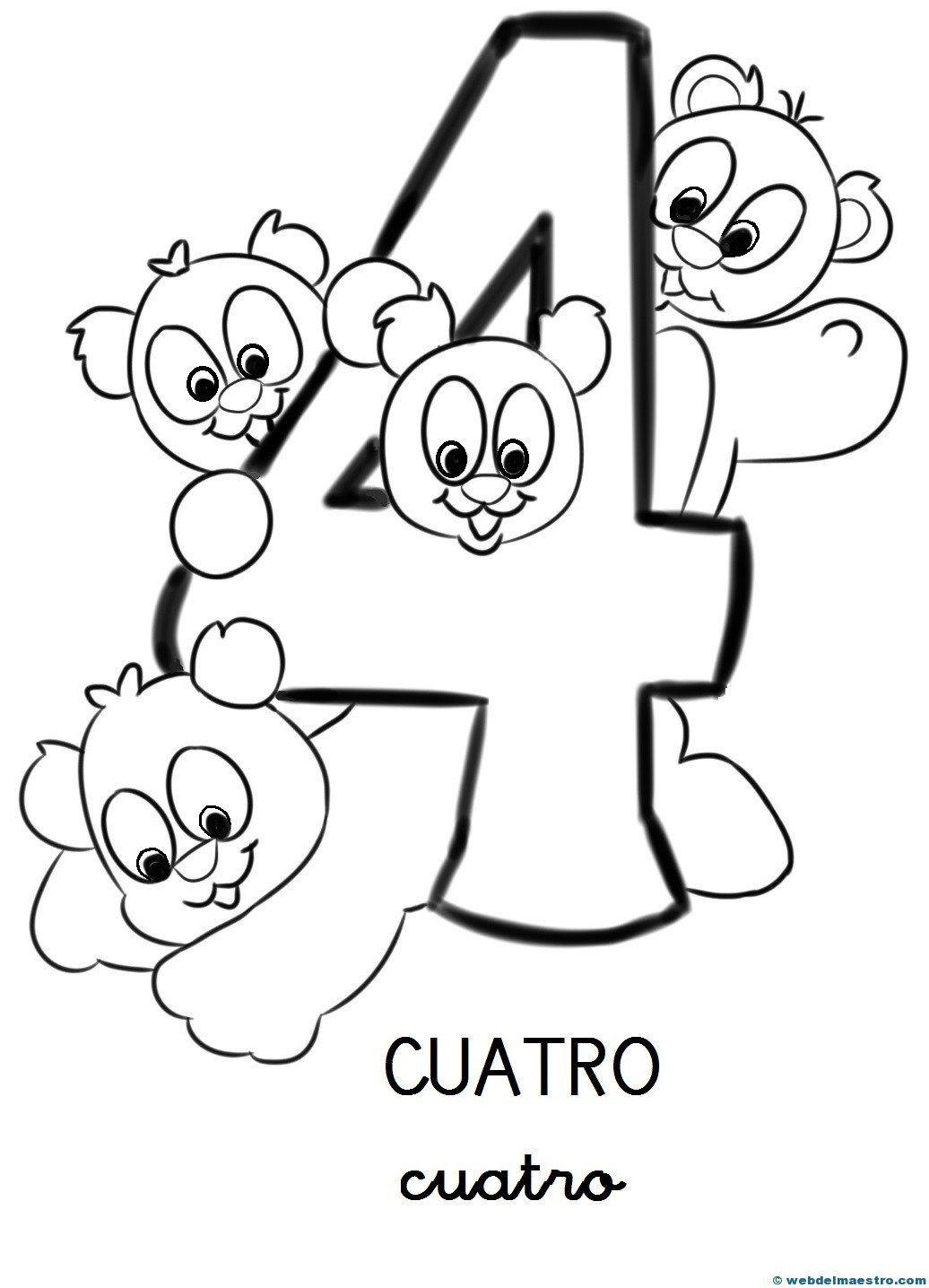 Numeros Para Colorear Web Del Maestro Numero Para Colorear Numeros Para Ninos Libros Didacticos Para Ninos