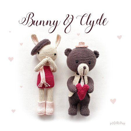 Bunny U0026 Clyde U2022 Amigurumi Puppen Valentinstag Paar U2022 Bär + Hase U2022  Häkelanleitung [DE