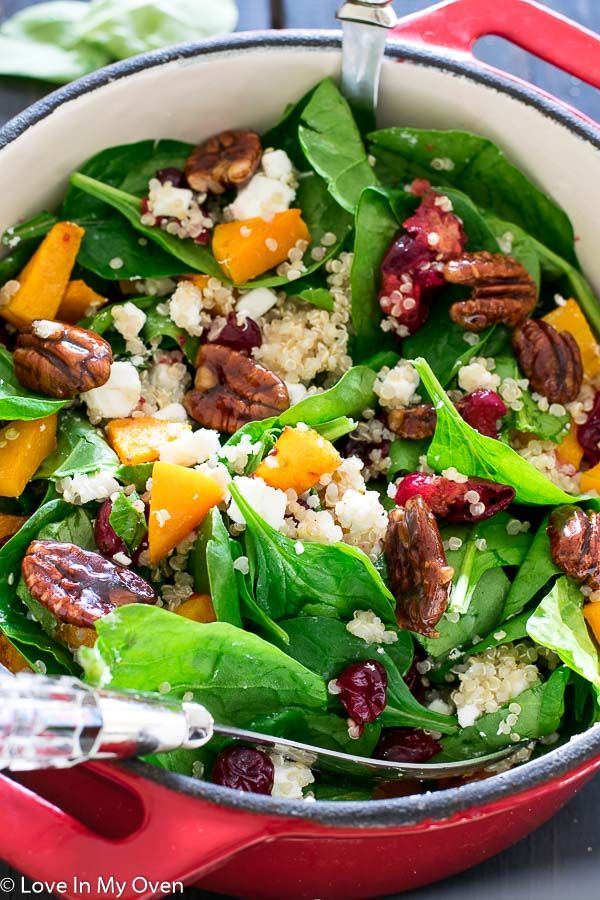 Roasted Butternut Squash and Cranberry Salad | Love In My Oven