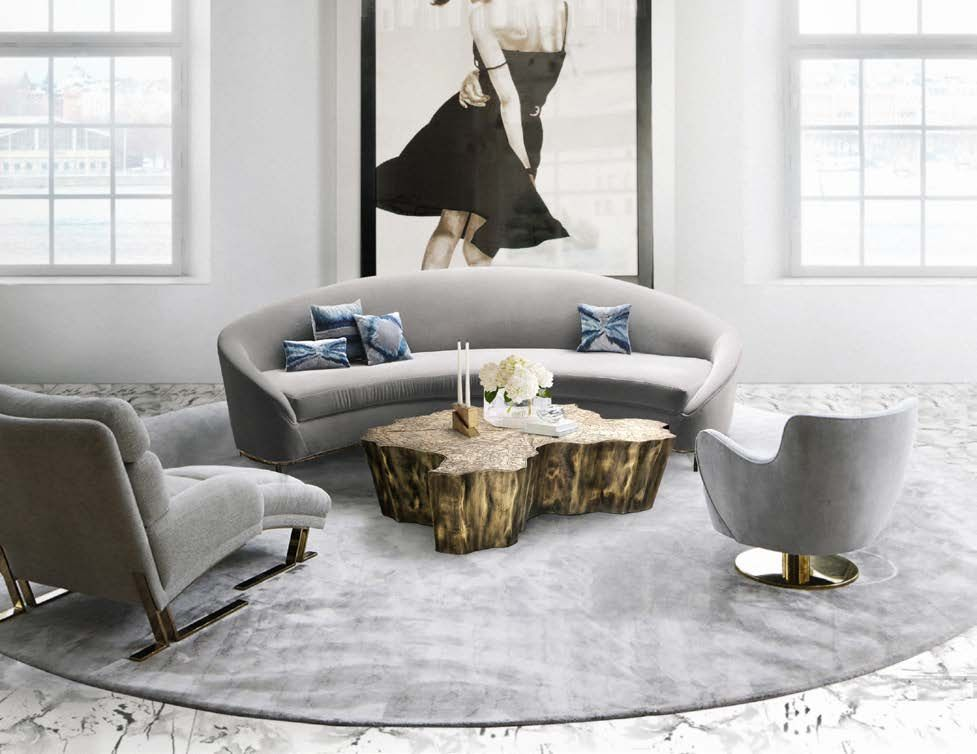 Sexy, mysterious and uninterrupted lines give this velvet sofa ...