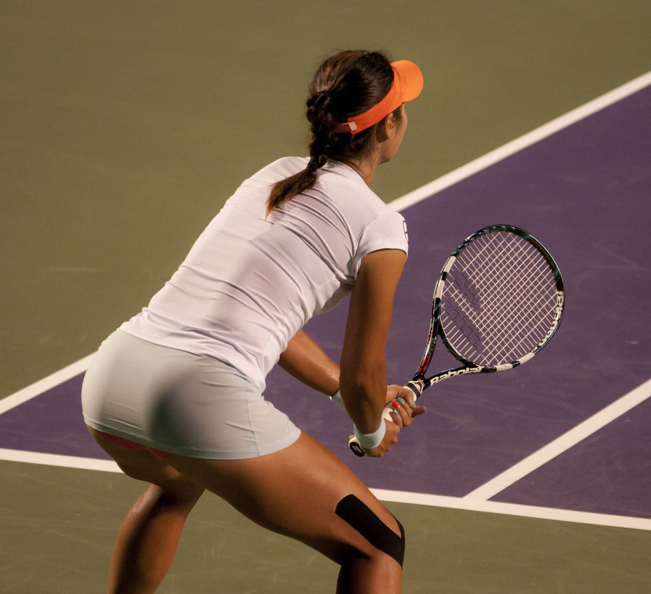 Tennis player taking huge cock