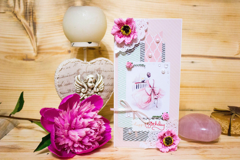Romantic birthday card for her elegant luxury handmade card romantic birthday card for her elegant luxury handmade card girlfriend anniversary card funny birthday card for lady greeting card m4hsunfo