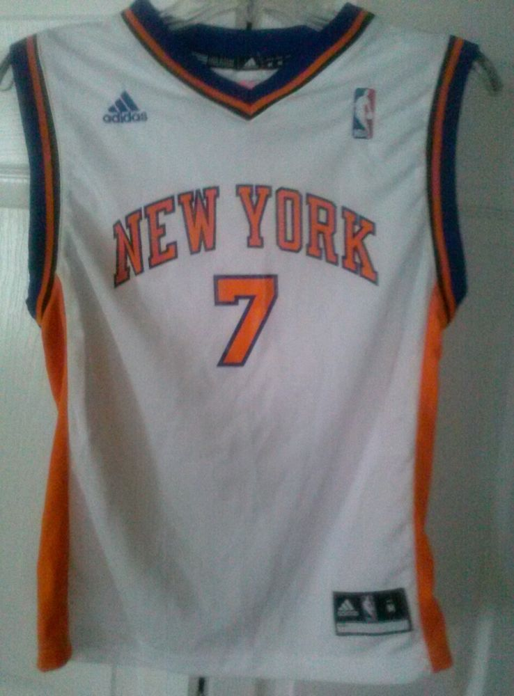263796e82 ADIDAS NEW YORK KNICKS  7 MELO ANTHONY NBA BASKETBALL JERSEY YOUTH Medium   adidas  NewYorkKnicks