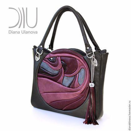f59f6e49ae65 Женские сумки ручной работы. Ярмарка Мастеров - ручная работа. Купить Новая  Модель. Handmade. Комбинированный, орхидея, сумка кожаная