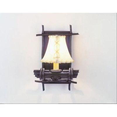 Steel Partners Bundle of Sticks 1 Light Wall Sconce Shade Color: Antique Rawhide, Finish: Mountain Brown