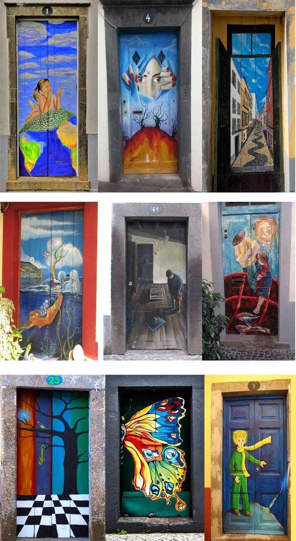Street Door Art. Creative Painted Doors Around The World. & Street Door Art. Creative Painted Doors Around The World | Travel ...