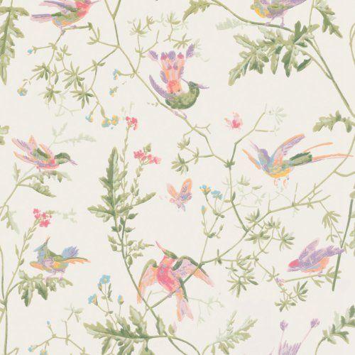 Cole & Son HUMMINGBIRDS SOFT MULTI-COLOUR Wallpaper
