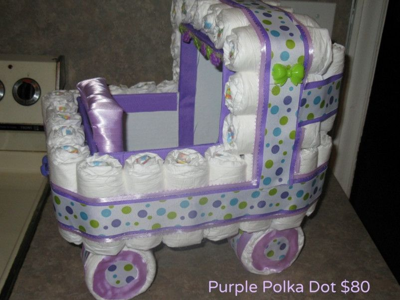 Pram diaper cake instructions diaper cakes pinterest for Baby diaper decoration ideas