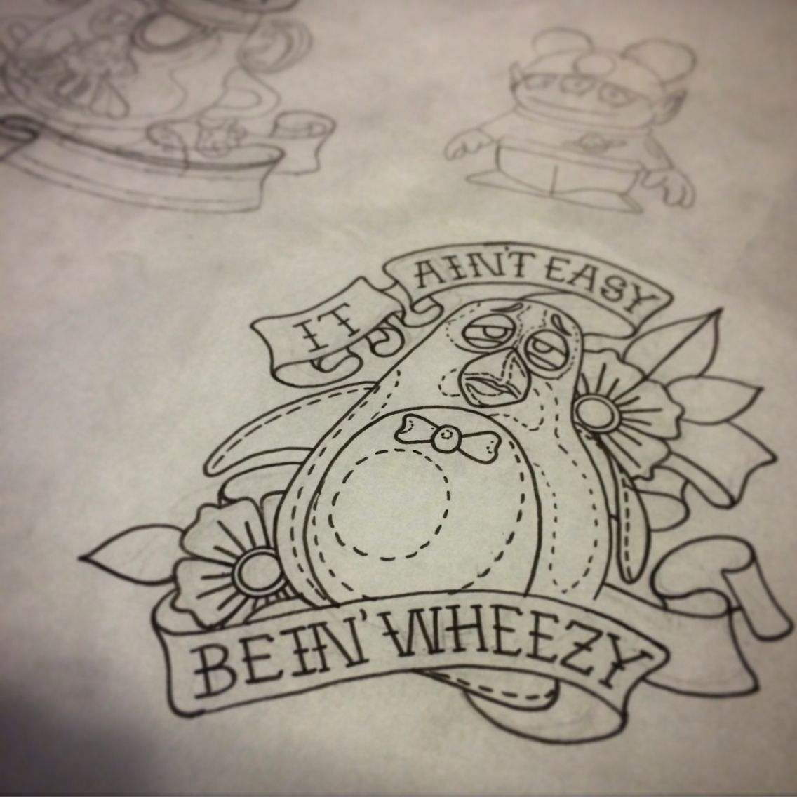 it ain 39 t easy bein wheezy toy story tattoo flash some more disney designs ready to go by matt. Black Bedroom Furniture Sets. Home Design Ideas