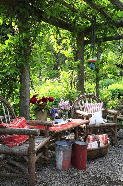Somewhere In The Garden Backyard Seating Garden Spaces Outdoor Decor