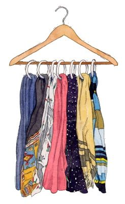 Whoever thought of this closet organizing tip for storing scarves is a genius! #organization #accessories