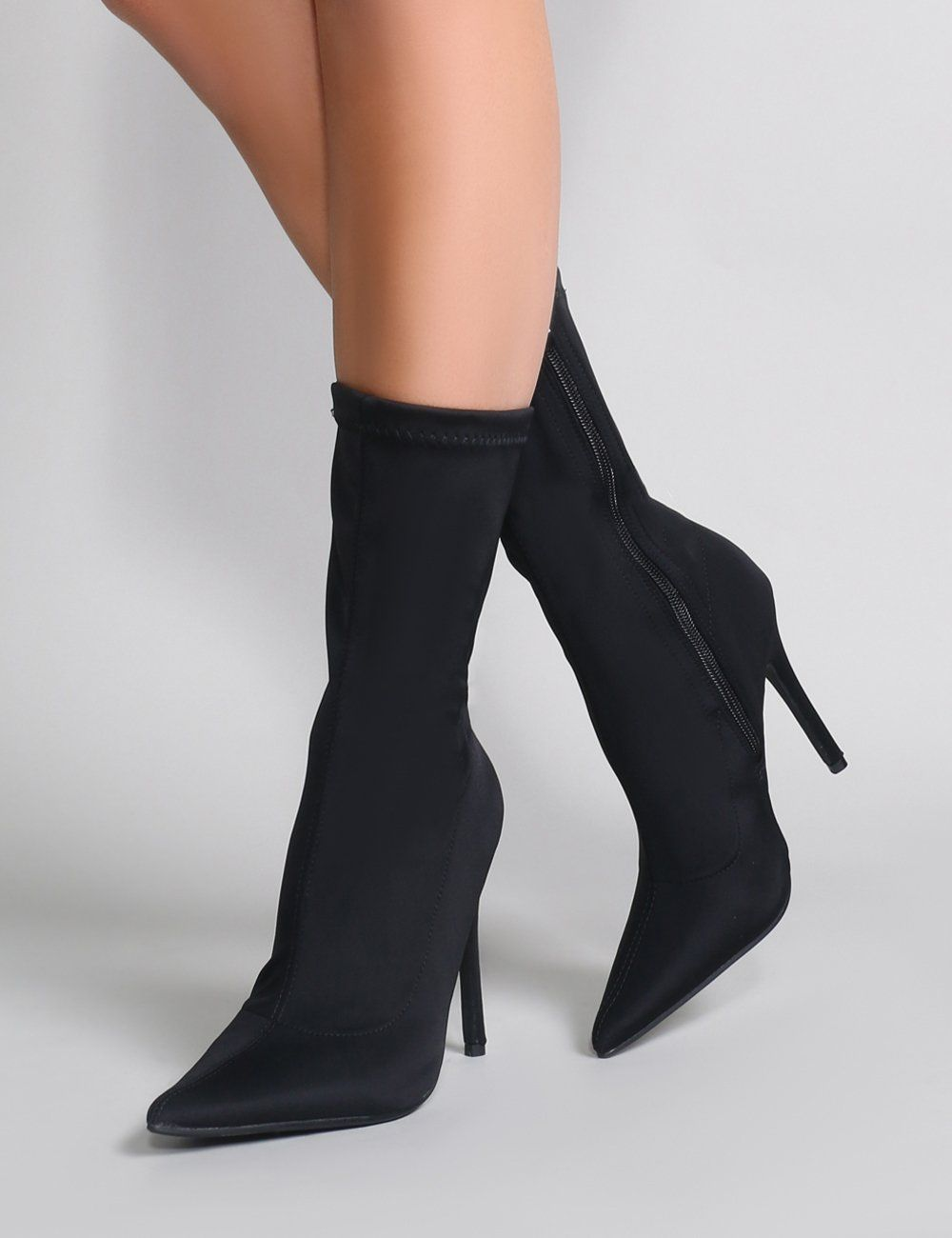 Direct Pointy Sock Boots in Black
