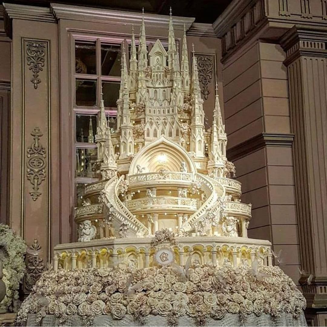 World's most expensive wedding cake. Photographed in